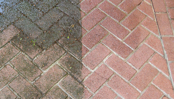 Professional cleaning services j sons outdoor for Bleaching concrete driveway